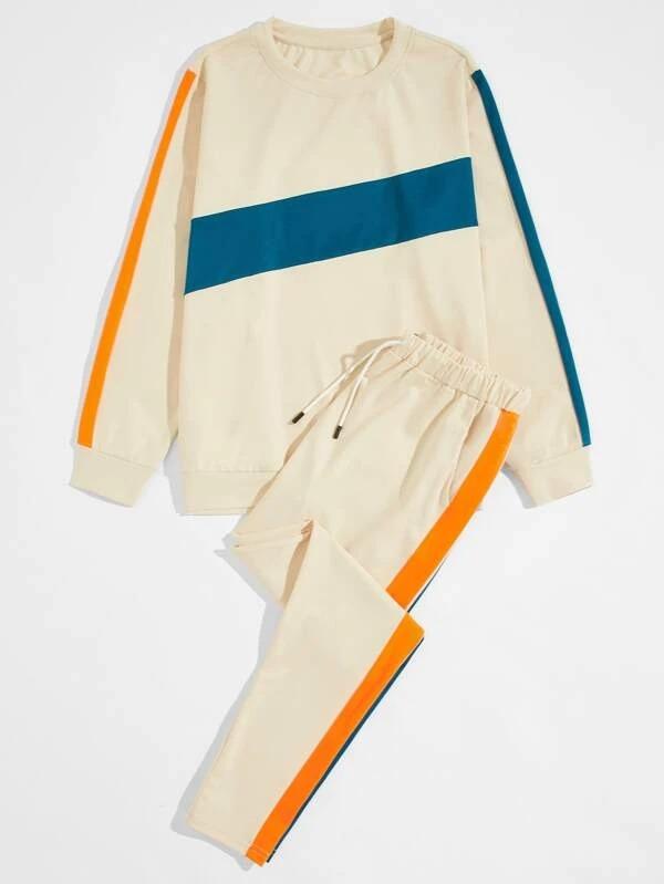 Shein-Colorblock-Sweatshirt-Drawstring-Waist-Pants