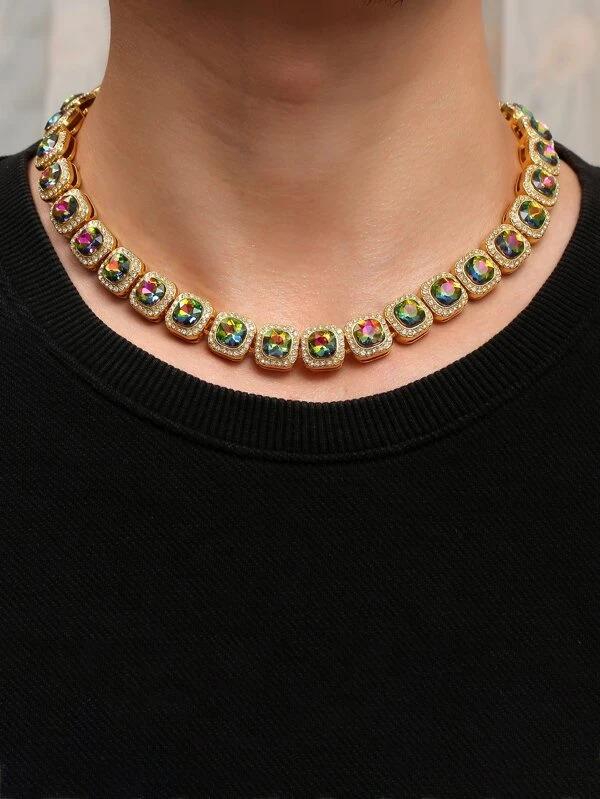 Shein-men-rhinestone-decor-necklace
