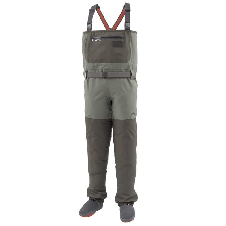 Simms Men's Freestone Waterproof Stockingfoot Chest Fishing Waders; fishing and hunting waders