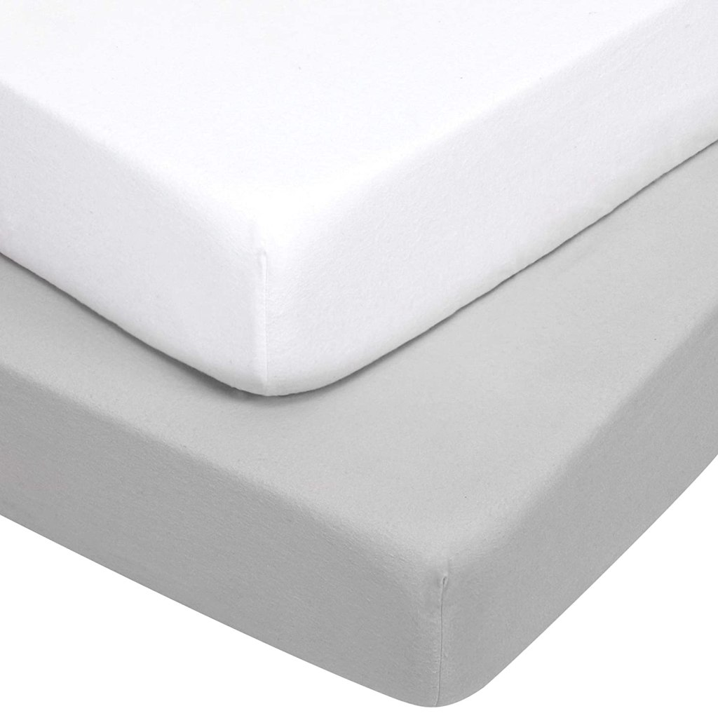 TILLYOU Flannel Cotton Fitted Crib Sheets