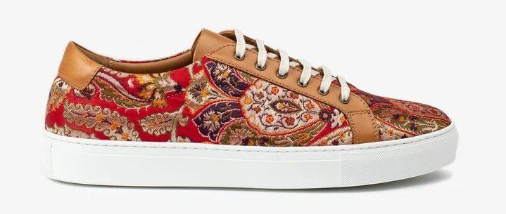 Taft-red-paisley-sneakers