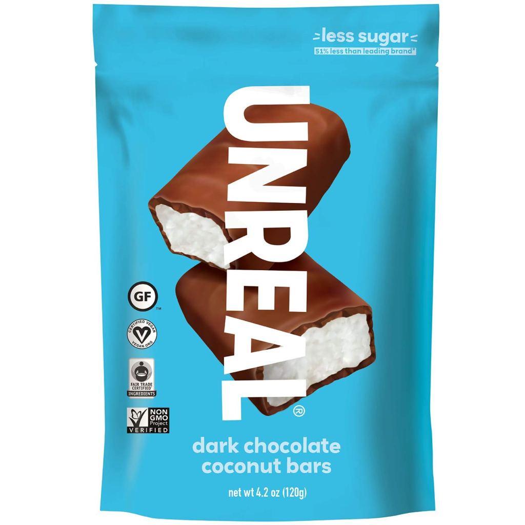 UNREAL Dark Chocolate Coconut Bars, best dark chocolate