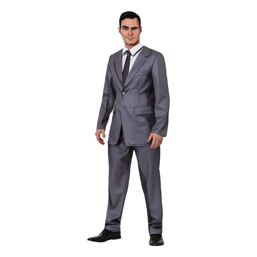 Man wears Adult Sterling Archer costume; work appropriate Halloween costumes