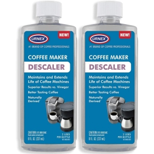 Urnex universal cleaner and descaling solution, descalers for coffee pots