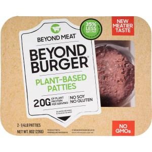 beyond meat burgers, meat alternatives