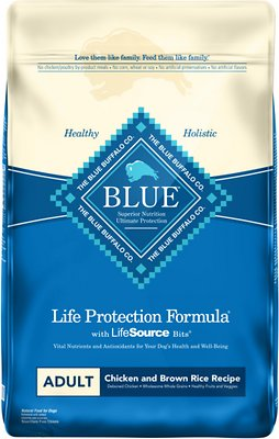 Click to open expanded view Blue Buffalo Life Protection Formula Adult Chicken & Brown Rice Recipe Dry Dog Food, slide 1 of 10 Slide 2 of 10 Slide 3 of 10 Slide 4 of 10 Slide 5 of 10 Slide 6 of 10 Slide 7 of 10 Slide 8 of 10 Slide 9 of 10 video, Slide 10 of 10video PrevNext Blue Buffalo Life Protection Formula
