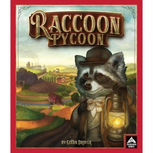 Raccoon tycoon board game, 2 person board game