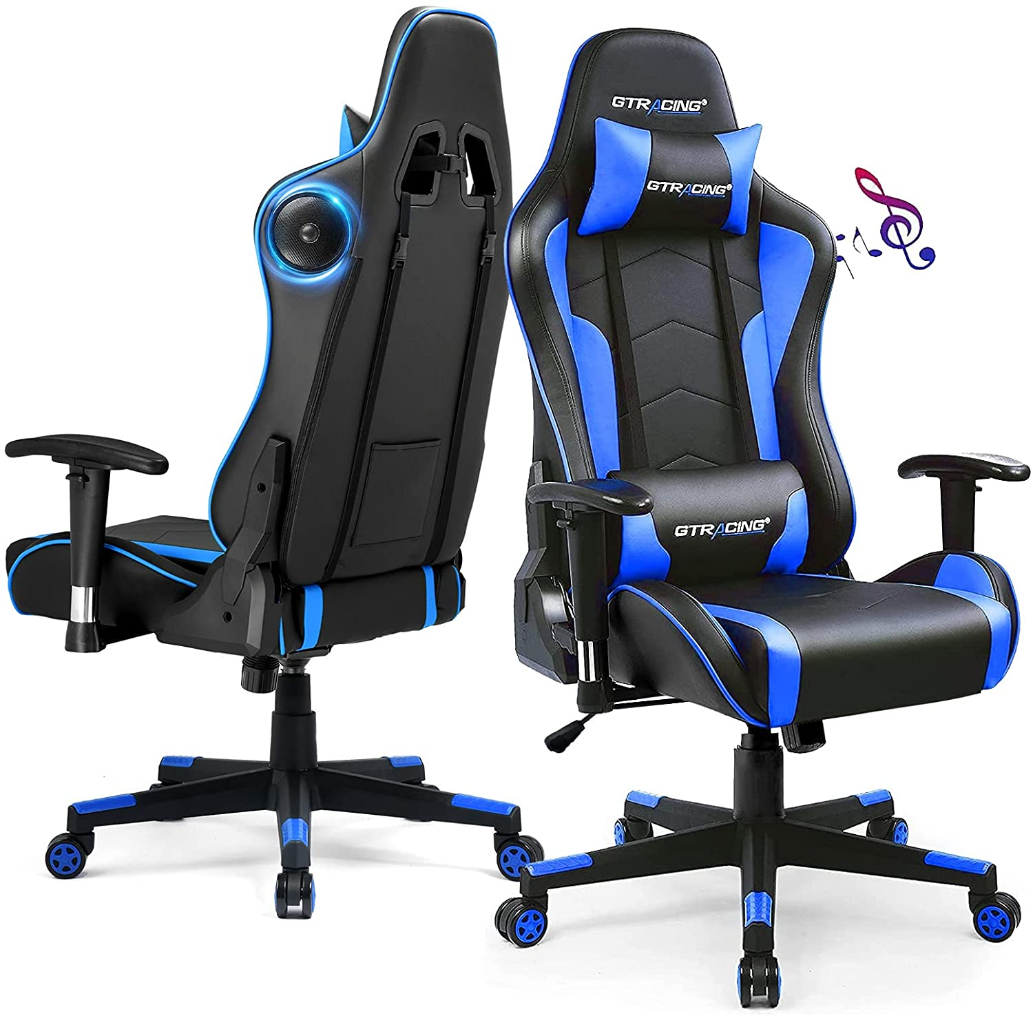 Gaming chair with bluetooth
