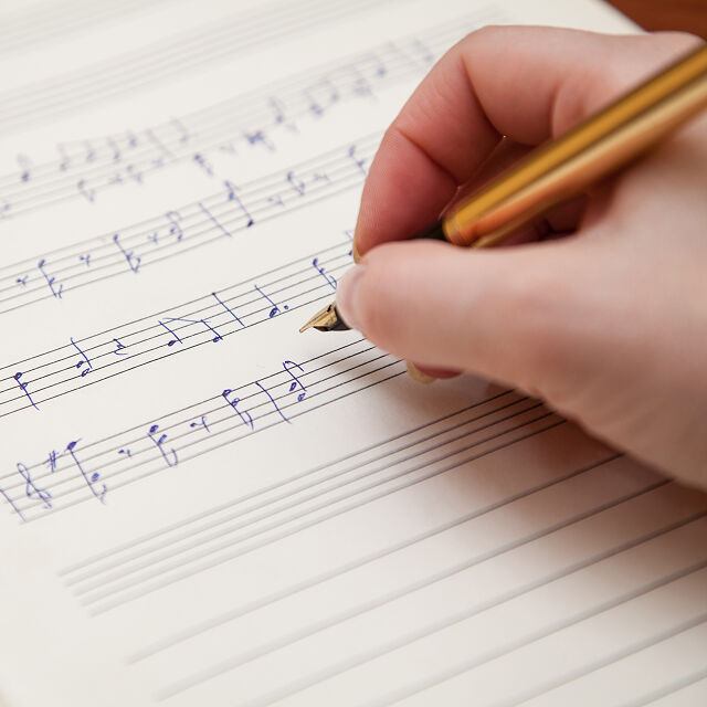 Custom music sheet