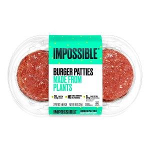 impossible foods beef patties, meat alternatives