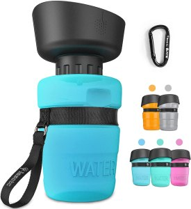 lesotc dog water bottle, how to fly with a dog