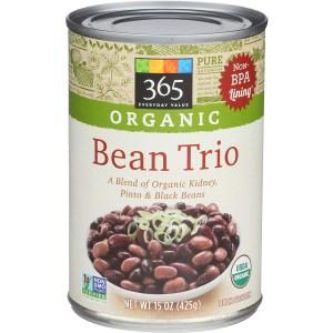 365 whole foods market bean trio, meat alternatives