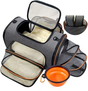 Pet Deluxe dog carrier, how to fly with a dog