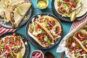 one-pan pork carnitas tacos, HelloFresh meal delivery