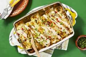 salsa verde enchiladas, HelloFresh