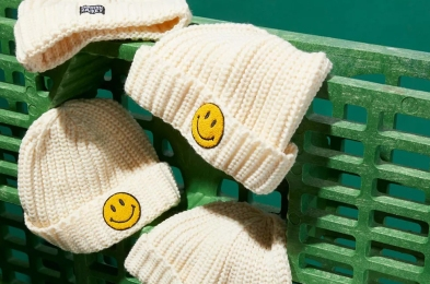 Market Smiley Patch Beanie