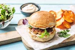 sriracha turkey burgers, HelloFresh
