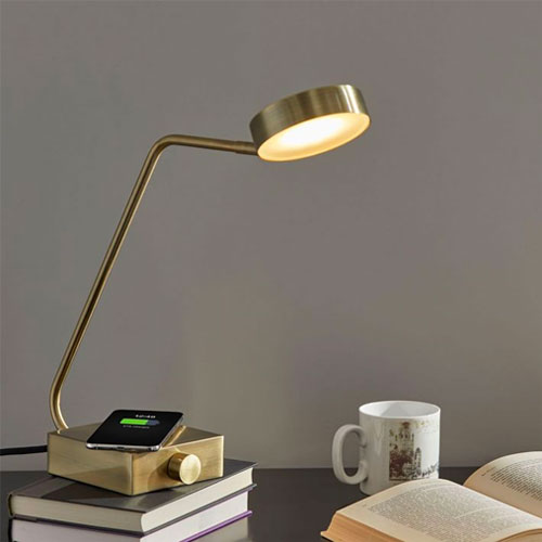 west elm led desk lamp with wireless charger
