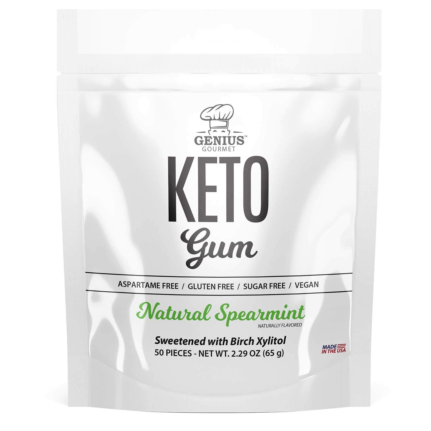 Natural KETO gum with xylitol