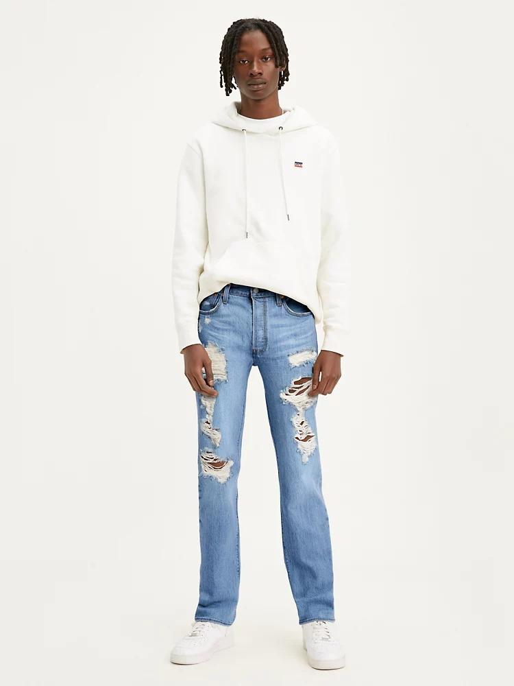 Levi's 501 Original Fit Ripped Jeans