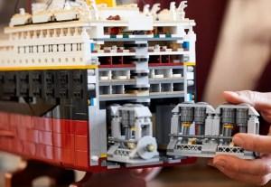 LEGO titanic model