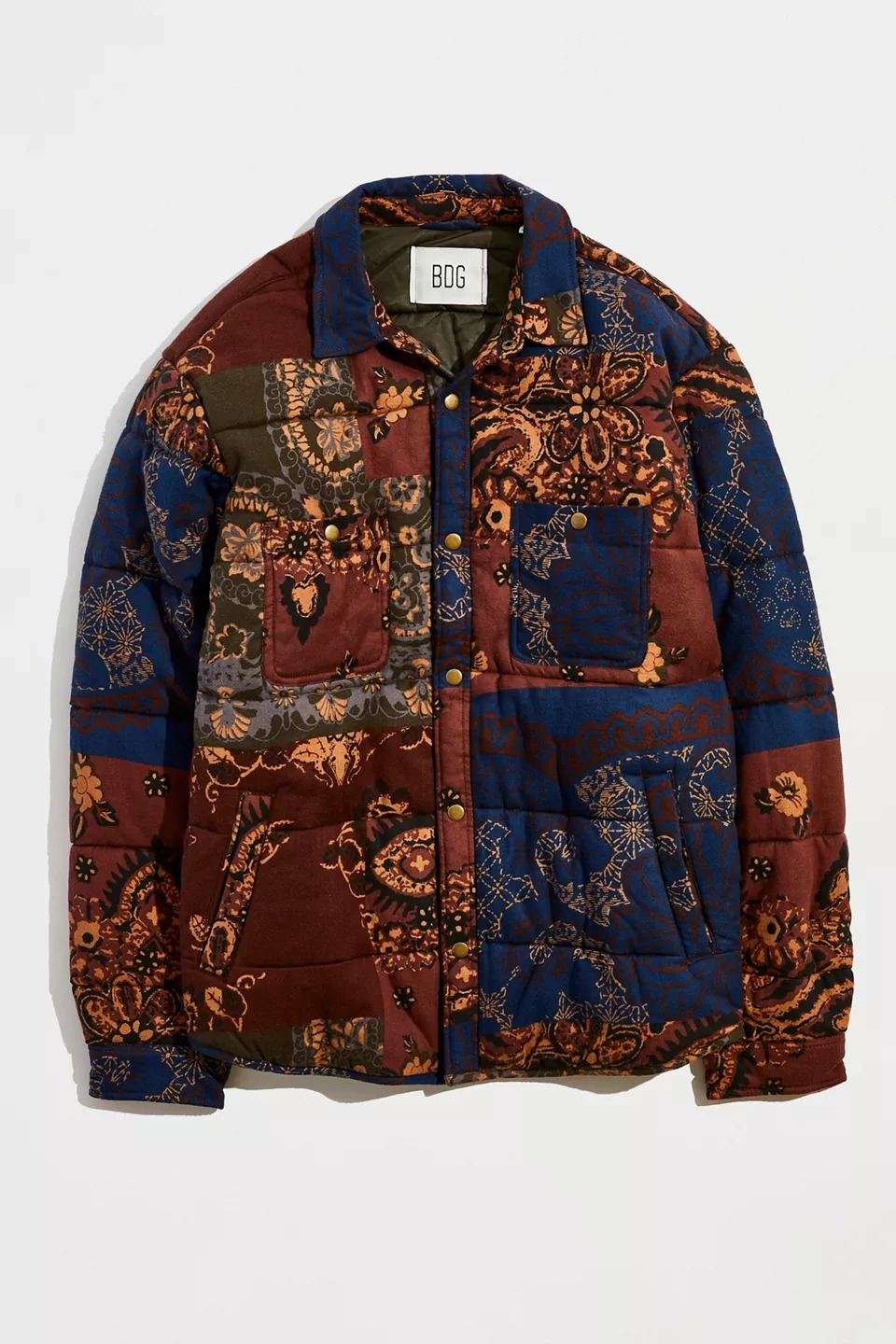 BDG Pattern Quilted Shirt Jacket