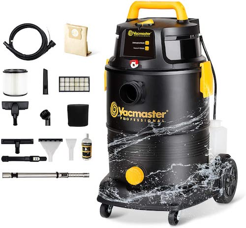 Vacmaster Wet Dry Shampoo 3-in-1 Portable Carpet Cleaner