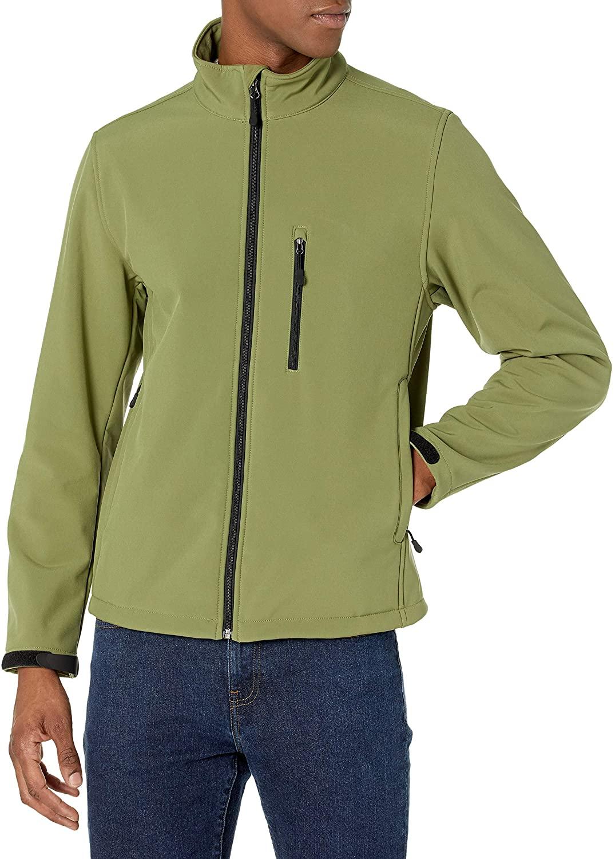 Amazon Essentials Men's Water-Resistant Softshell Jacket
