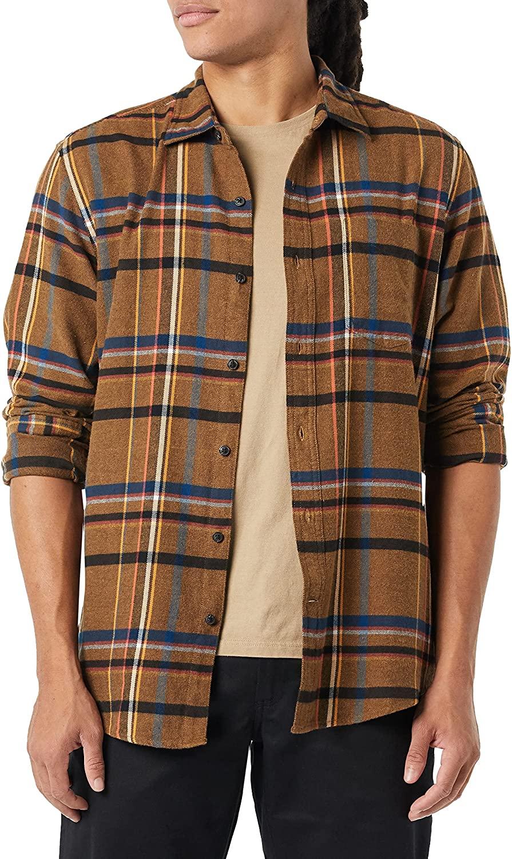 Amazon Essentials Regular-fit Long-Sleeve Plaid Flannel Shirt