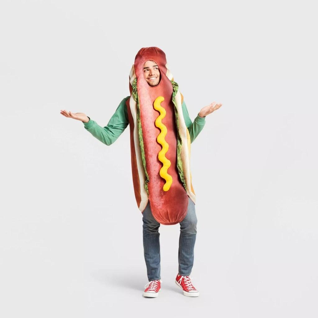 Adult Hot Dog Halloween Costume Bodysuit