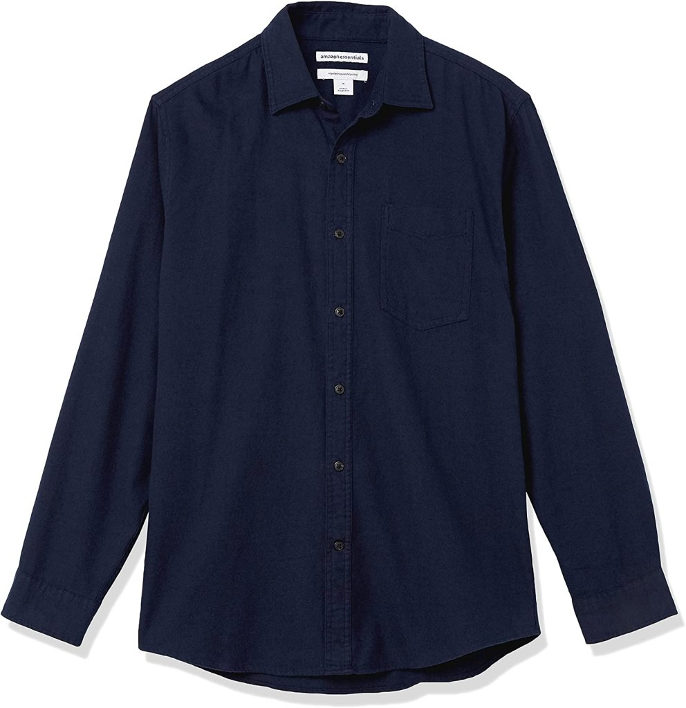 amazon essentials button shirt, best casual shirts for men