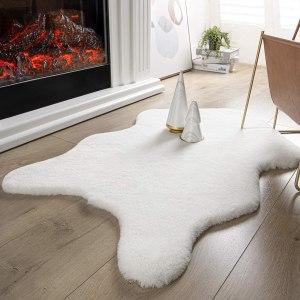 faux animal rugs ashler ultra soft rabbit