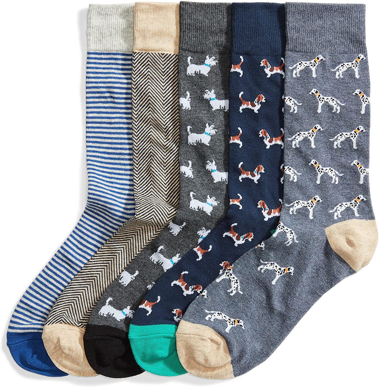 Goodthreads 5-Pack Patterned Socks