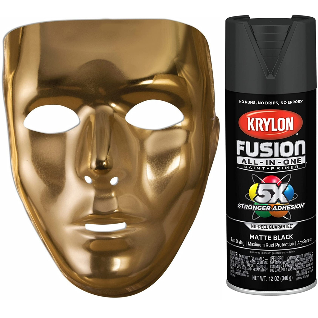 Back up Mask with Black Spray paint