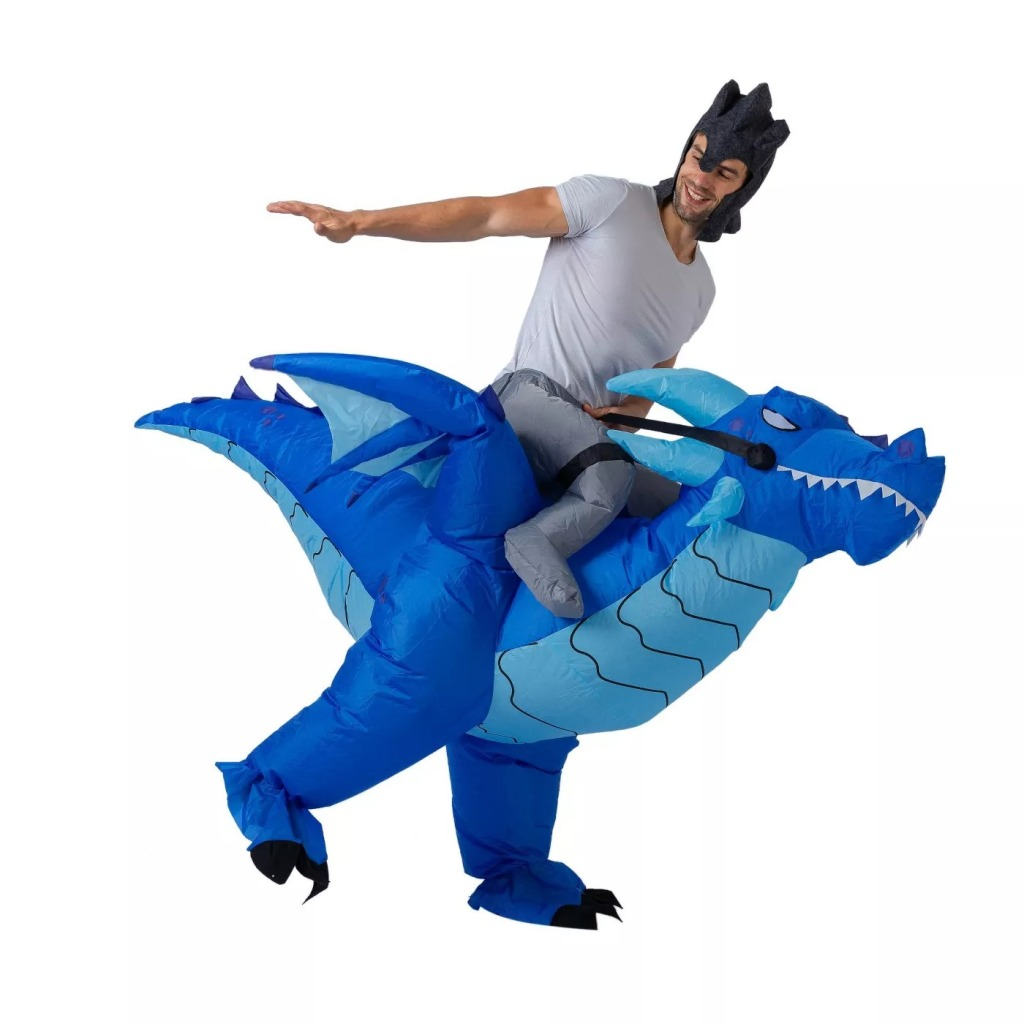 Blue Ice Dragon Ride-On Inflatable Halloween Costume