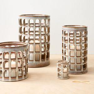 colosseo ceramic glaze lanterns candle holder