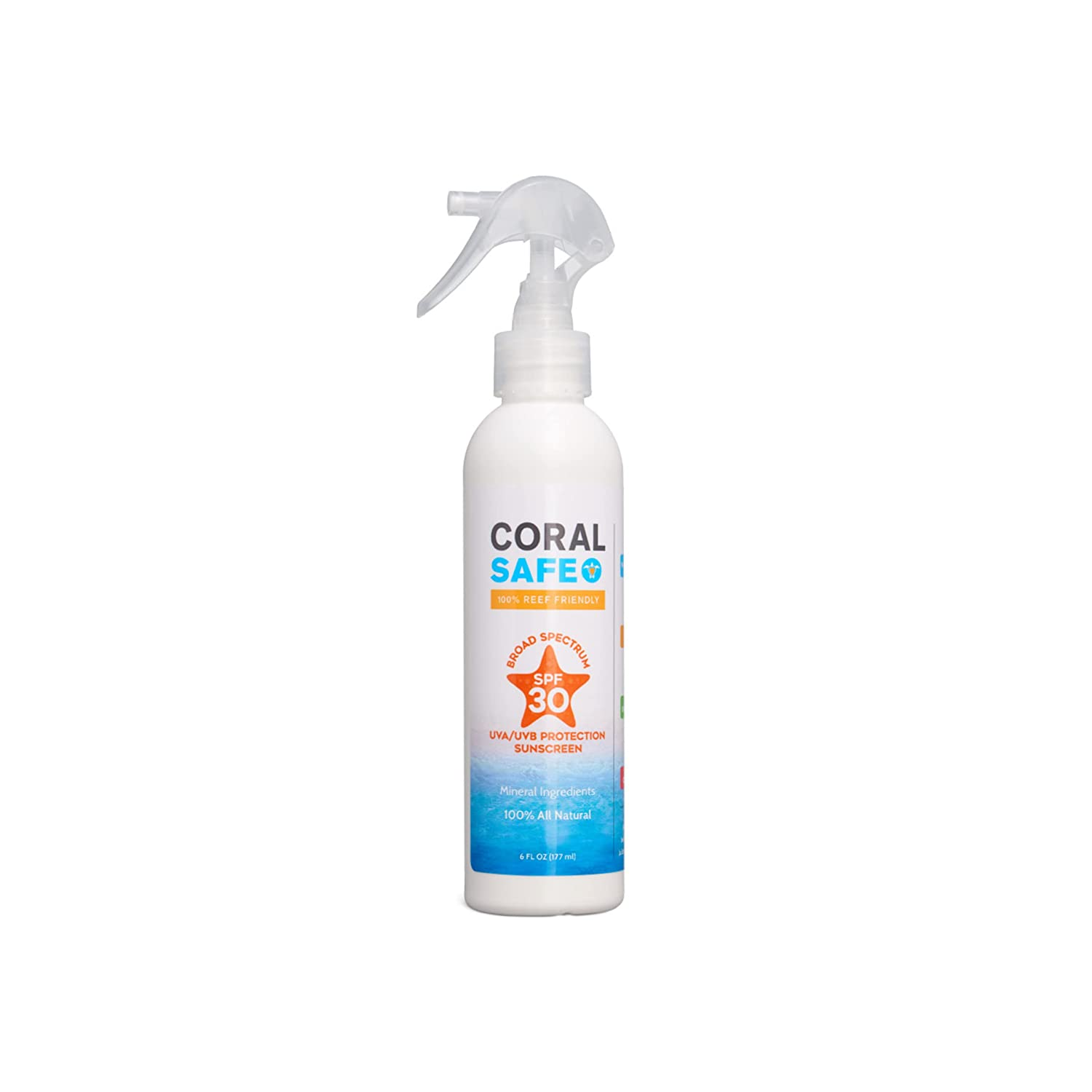 Coral Safe Natural SPF 30 Mineral Sunscreen Spray
