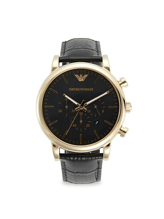 Emporio-Armani-Stainless-Steek-and-Leather-Strap-Chronograph-Watch-Copy