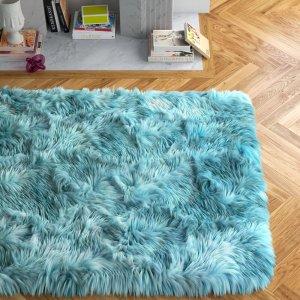 ette avenue faux fur rug