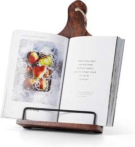 fanatu wooden cookbook stand