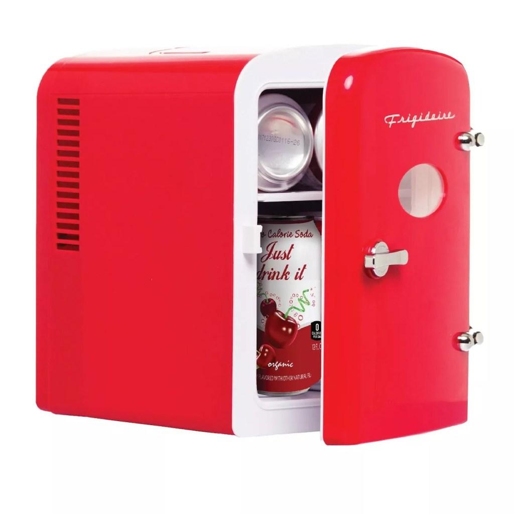 Frigidaire 6-Can Mini Retro Beverage Fridge