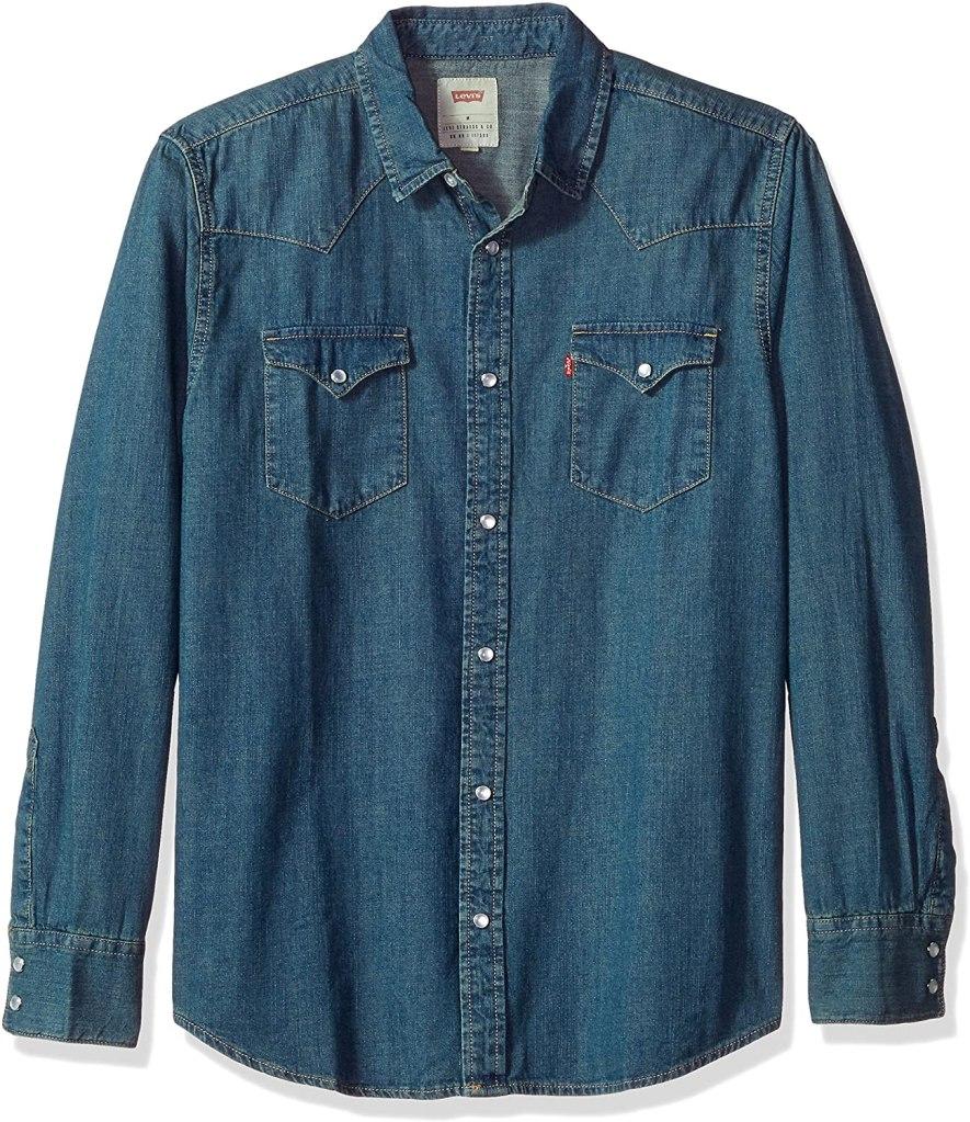 levis button up denim shirt