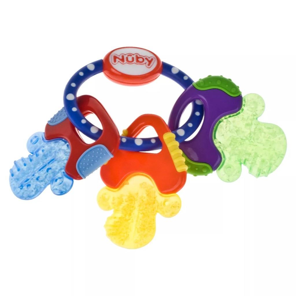 Nuby Ice Gel Baby Teether Keys, best teething toys
