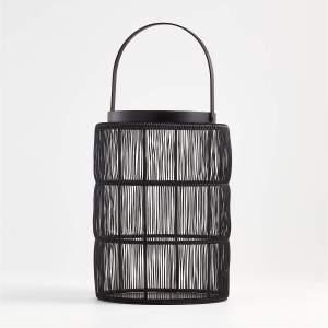 ora black wire lantern candle holder