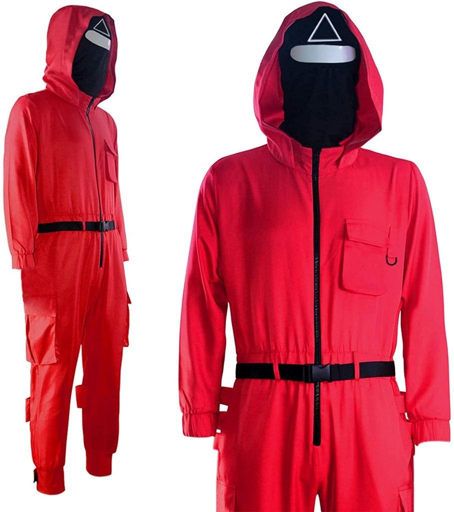 Squid Game Red Jumpsuit Costume