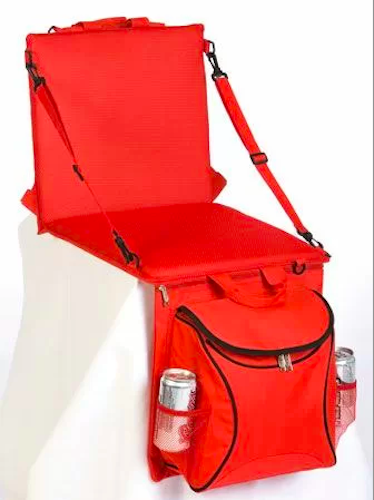 Tanya Backpack Insulated Cooler Folding Stadium Seat with Cushion