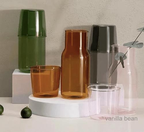 Vanilla Bean Carafe and Cup Set