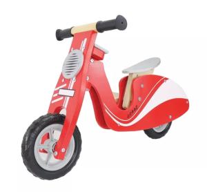 Leo & Friends Kid's' wooden red scooter bike, best balance bikes