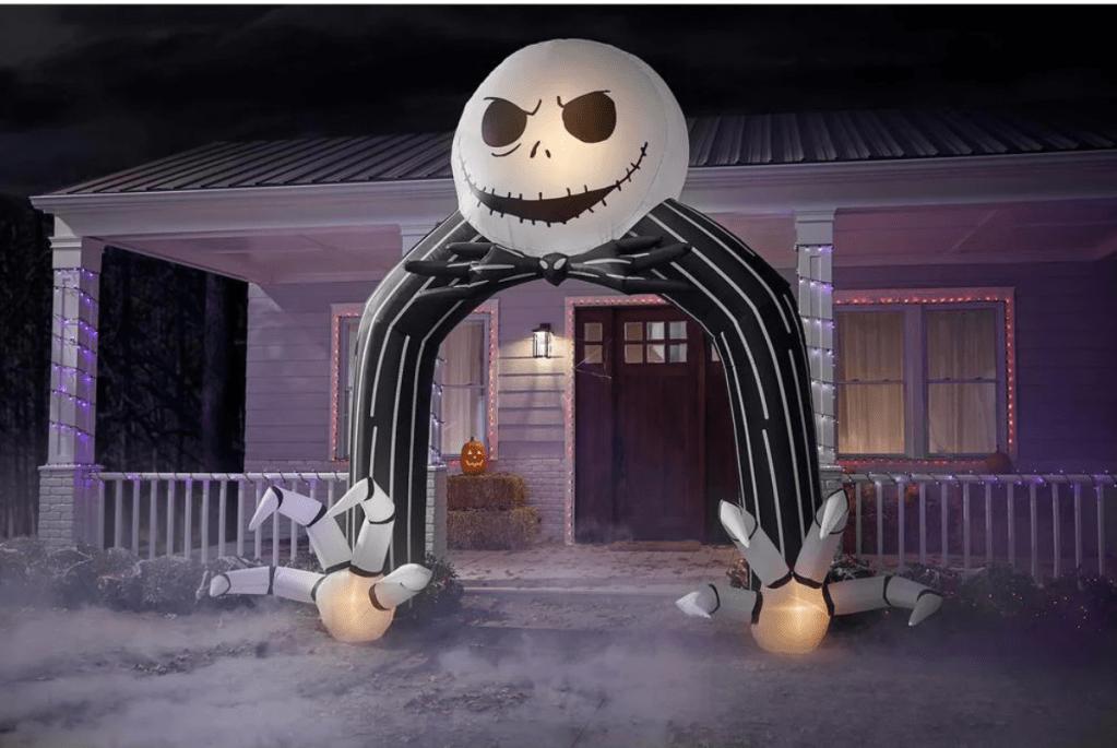 Jack Skellington Airblown Archway Disney Halloween Inflatable