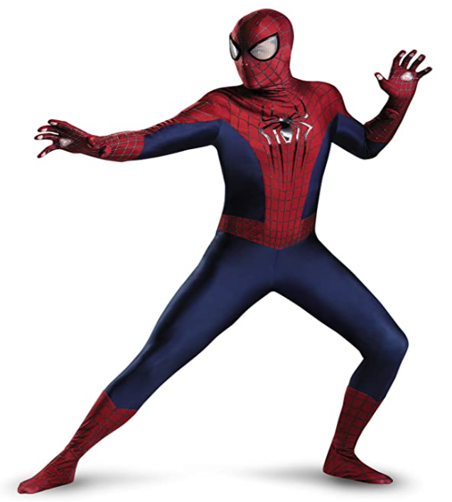 Men's Marvel The Amazing Spider-Man Theatrical Adult Costume, best last-minute halloween costumes